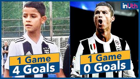 Cả 2 con trai Ronaldo đều mê đá bóng hình ảnh