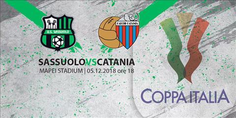 Sassuolo vs Catania 0h00 ngày 612 (Coppa Italia 201819) hình ảnh