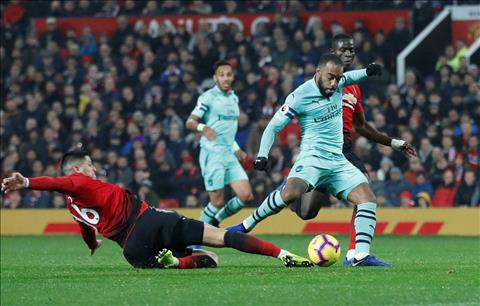 M.U vs Arsenal Lacazette ghi ban