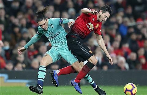 M.U vs Arsenal Bellerin pham loi voi Darmian