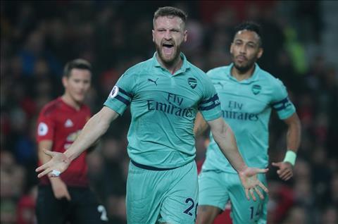 M.U vs Arsenal Mustafi ghi ban
