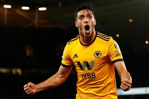 Raul Jimenez go hoa 1-1 Chelsea vs Wolves