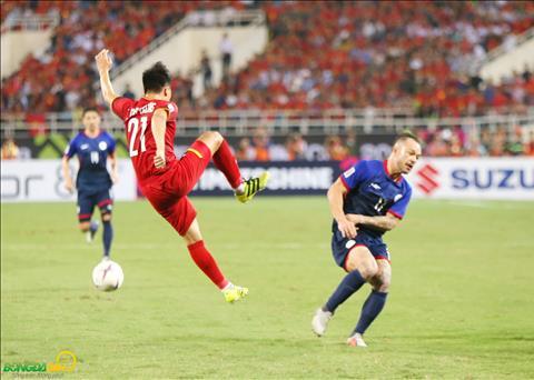 Cac cau thu DT Viet Nam da co mot ngay thi dau qua cam de gianh ve vao chung ket AFF Cup 2018.