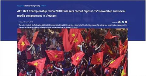 AFC cong bo thong ke cuc soc lien quan toi DT U23 Viet Nam hinh anh