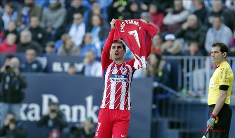 Malaga 0-1 Atletico Madrid Dinh doat sau 39 giay hinh anh