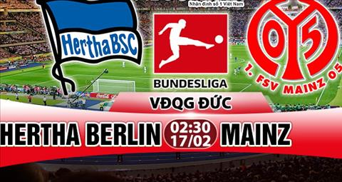 Nhan dinh Hertha Berlin vs Mainz 02h30 ngay 172 (Bundesliga 201718) hinh anh