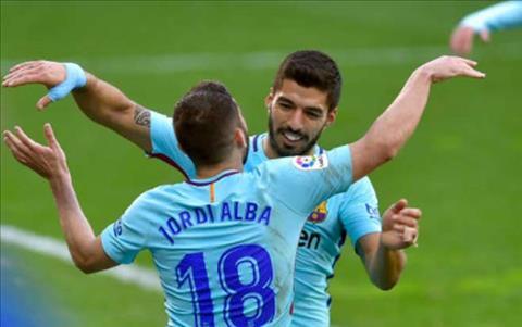 Jordi Alba chot ha tran dau cho Barca o phut 88