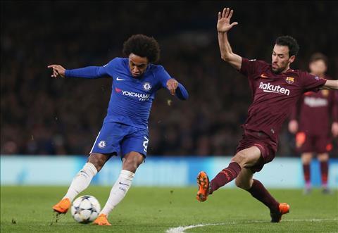 Willian va Fabregas that vong sau tran Chelsea 1-1 Barca hinh anh 2
