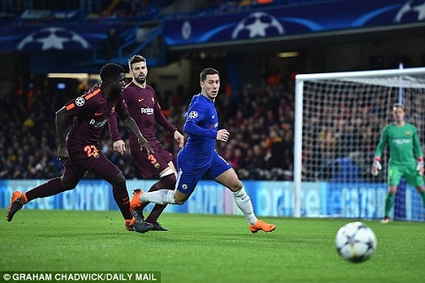 Willian va Fabregas that vong sau tran Chelsea 1-1 Barca hinh anh