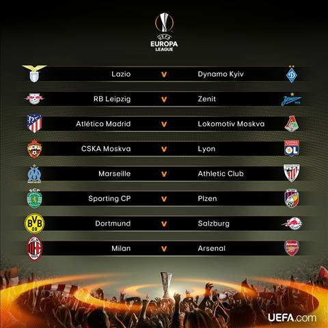 Ket qua boc tham vong 1/8 UEFA Europa League 2017/18