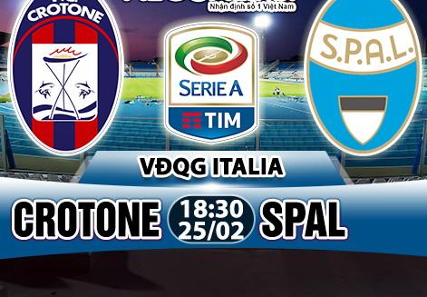 Nhan dinh Crotone vs Spal 18h30 ngay 252 (Serie A 201718) hinh anh