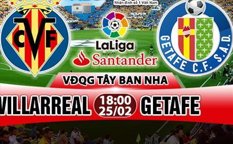 Nhan dinh Villarreal vs Getafe 18h00 ngay 252 (La Liga 201718) hinh anh