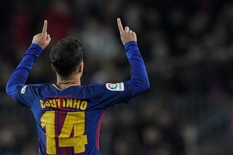 Philippe Coutinho co ban thang dau tien tai La Liga cho Barca.