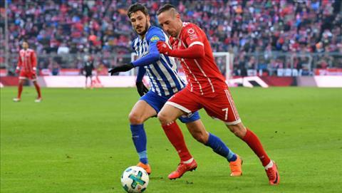 Tong hop: Bayern Munich 0-0 Hertha Berlin (Vong 24 Bundesliga 2017/18)