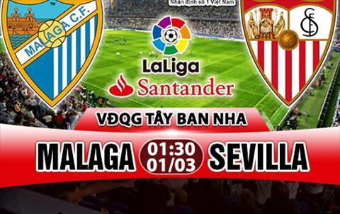 Nhan dinh Malaga vs Sevilla 01h30 ngay 13 (La Liga 201718) hinh anh