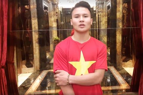 Quang Hai trong clip duoc dang tai tren AFC