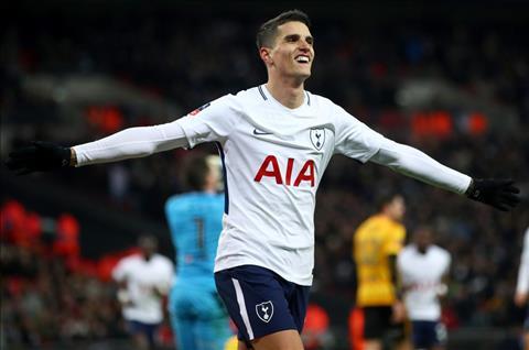 Lamela ghi ban cho Tottenham