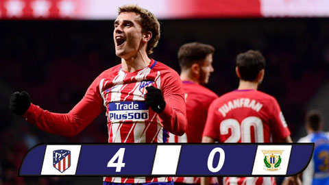 Atletico Madrid 4-0 Leganes Griezmann tiep tuc thang hoa voi cu poker hinh anh