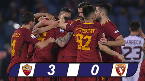 Tong hop Roma 3-0 Torino (Vong 28 Serie A 201718) hinh anh