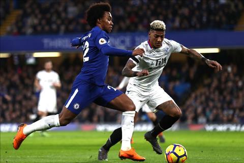 Chelsea vs Crystal Palace Willian di bong