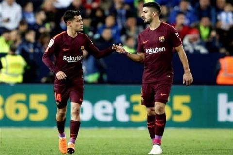 Coutinho va Suarez ghi ban cho Barca