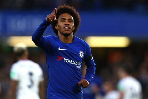 Chelsea vs Crystal Palace Willian ghi ban