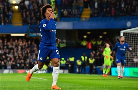 Willian ghi ban cho Chelsea