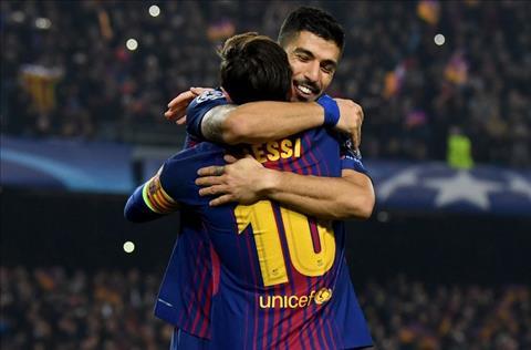 Suarez va Messi tao nen 2 ban thang cua Barca