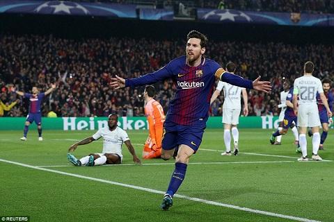 Messi trong trận Barcelona vs Chelsea