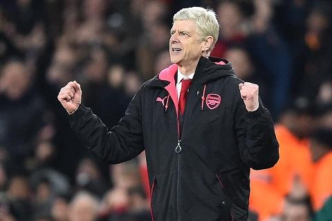 Wenger trong chien thang Arsenal 3-1 AC Milan