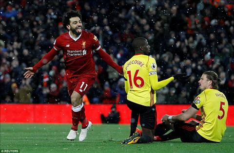 Huyen thoai MU tang boc Salah sau poker vao luoi Watford hinh anh