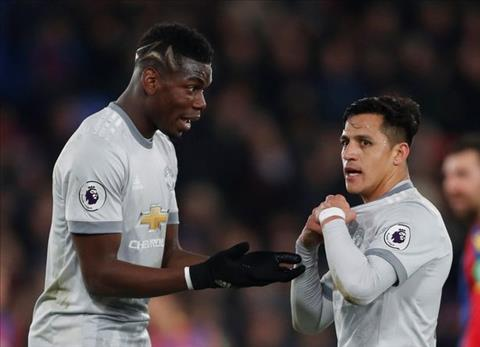 Pogba va Alexis Sanchez deu ngoi du bi trong tran dau voi Brighton.