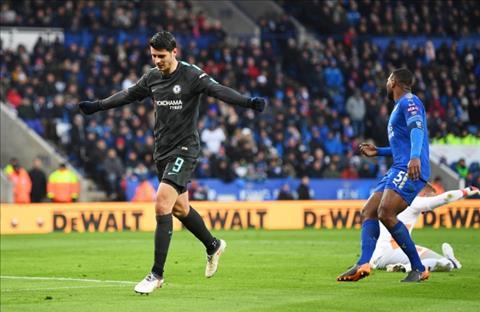 Leicester vs Chelsea Su tro lai cua sat thu Morata hinh anh