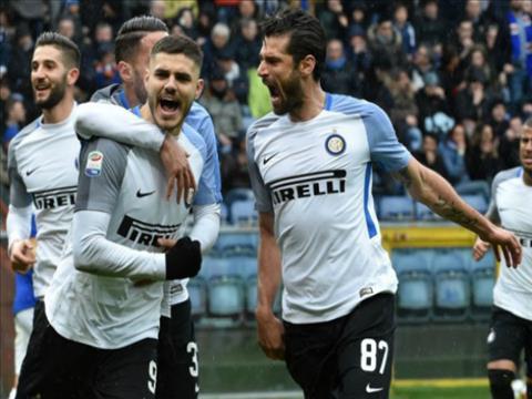 Tong hop: Sampdoria 0-5 Inter Milan (Vong 28 Serie A 2017/18)