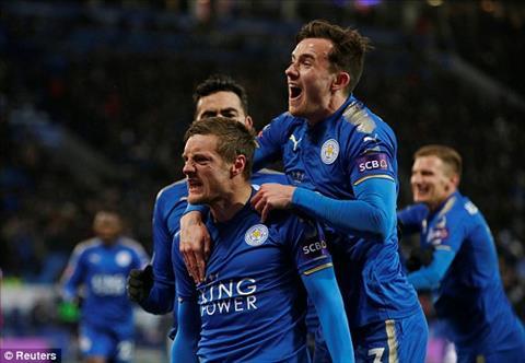 Vardy go hoa 1-1 cho Leicester