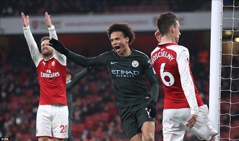 Du am Arsenal 0-3 Man City Ngay tien ve Sane huy diet Phao thu hinh anh 2