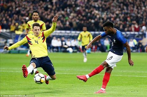 Clip ban thang Phap vs Colombia 2-3 Giao huu quoc te dem qua hinh anh