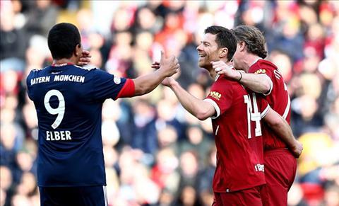 Tong hop Huyen thoai Liverpool vs Huyen thoai Bayern Munich 5-5 hinh anh
