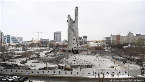 Thap truyen hinh o Yekaterinburg bi pha do de phuc vu World Cup 2018.