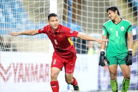 Tien dao Nguyen Anh Duc ghi ban vao luoi Jordan