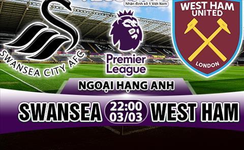 Nhan dinh Swansea vs West Ham 22h00 ngay 33 (Premier League 201718) hinh anh