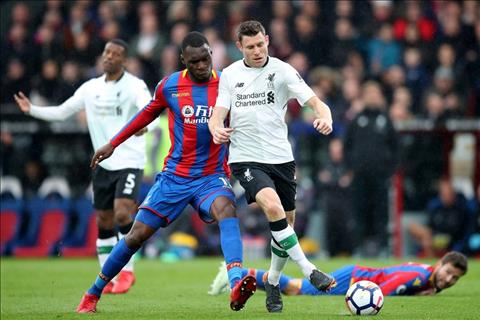 Liverpool vs Palace Milner di bong