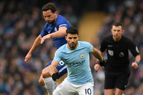 Danny Drinkwater va Aguero Man City vs Chelsea