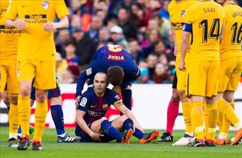 Iniesta gia nhap danh sach chan thuong cua Barcelona hinh anh