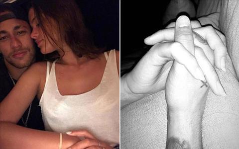 Tien dao Neymar ngoi xe lan om hon ban gai hinh anh