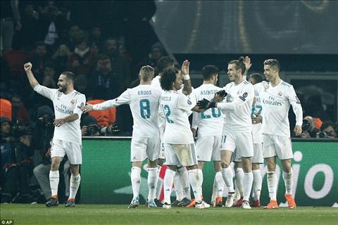 Nhung con so an tuong cua tran dau PSG 1-2 Real Madrid