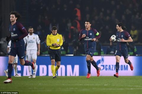 PSG bi Real Madrid loai khoi Champions League.