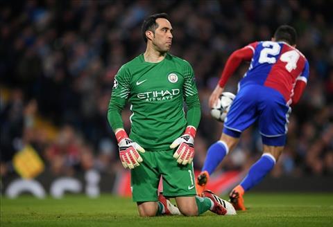 Claudio Bravo bat luc tran giu khung thanh tran Man City vs Basel