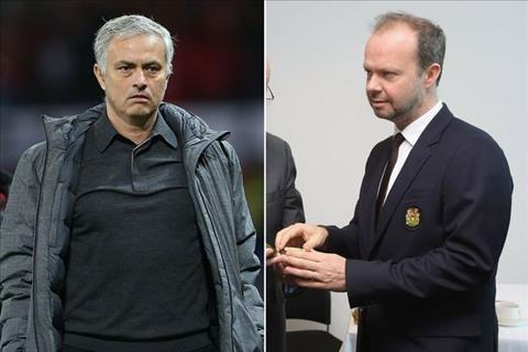 lanh dao M.U Woodward va Mourinho