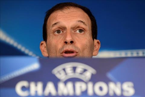 Massimiliano Allegri noi ve tran Real Madrid vs Juventus